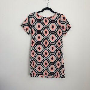 ASOS Iska Bold Aztec Print Shift Dress